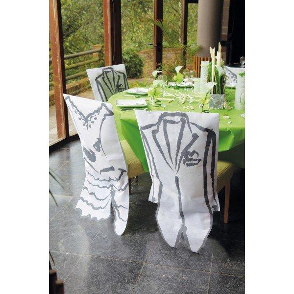 Housse de chaise blanc avec robe de mariee for Housse de chaise blanc