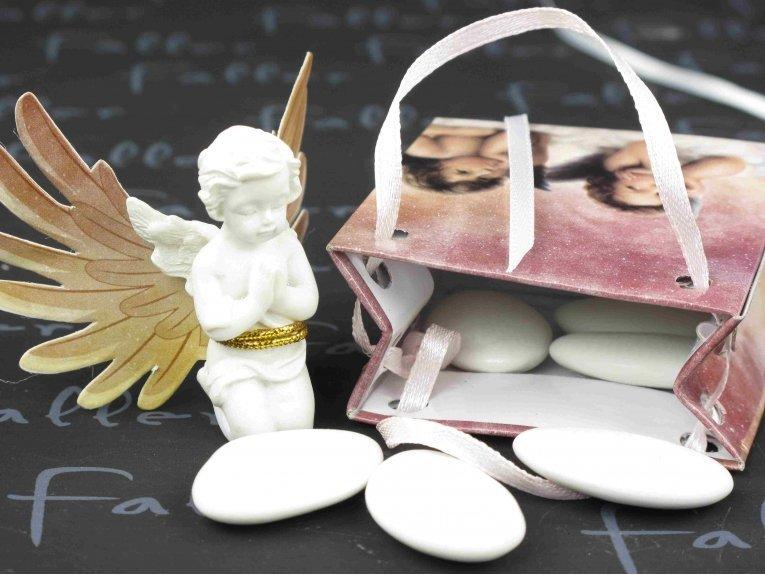 Ange gardien raphael dans sac avec dragees communion