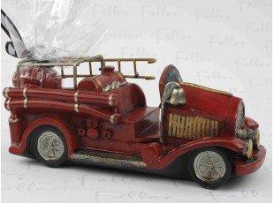 Grand camion de pompier avec dragées de baptême