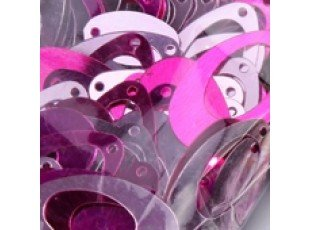 Deco table goute fuchsia