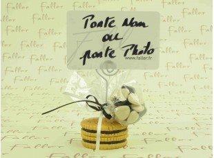 Gâteau BN porte-photo avec dragées chocolat