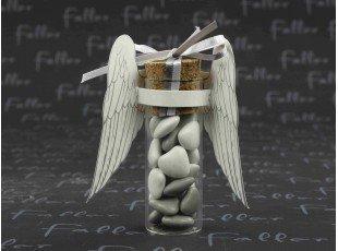 Aile d ange papier sur  eprouvette avec dragees