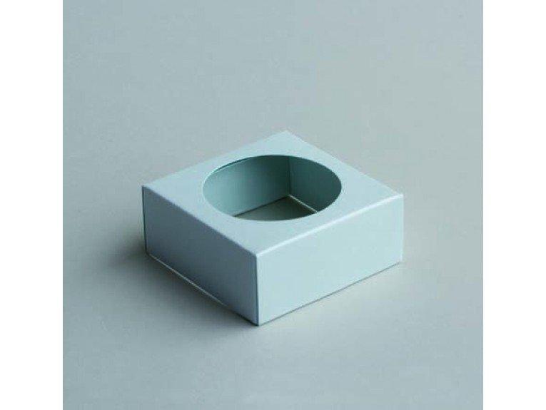 Socle bleu pour boule plexi 5cm