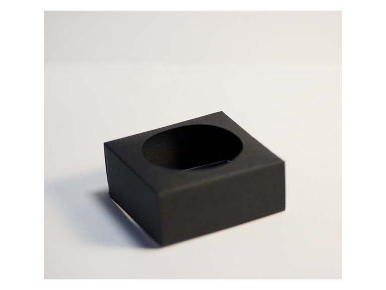 Socle noir pour boule à dragées en plexi 5cm