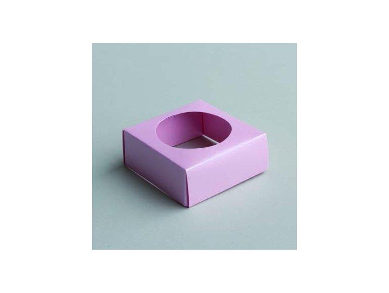 Socle rose pour boule plexi 5cm