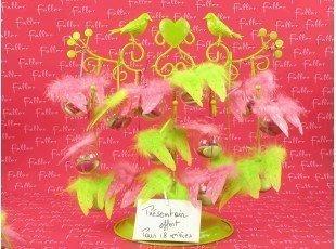 Dragées choco avec ailes d'ange anis et fuchsia
