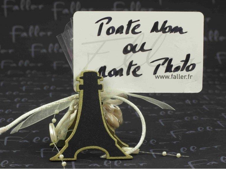 Dragées mariage avec ardoise Tour Eiffel or