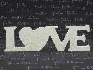 Plaque décorative love couleur blanche