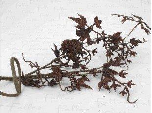 Feuille de vigne pailletée marron