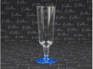 Déco de table - Flûte à champagne en plastique socle bleu marine