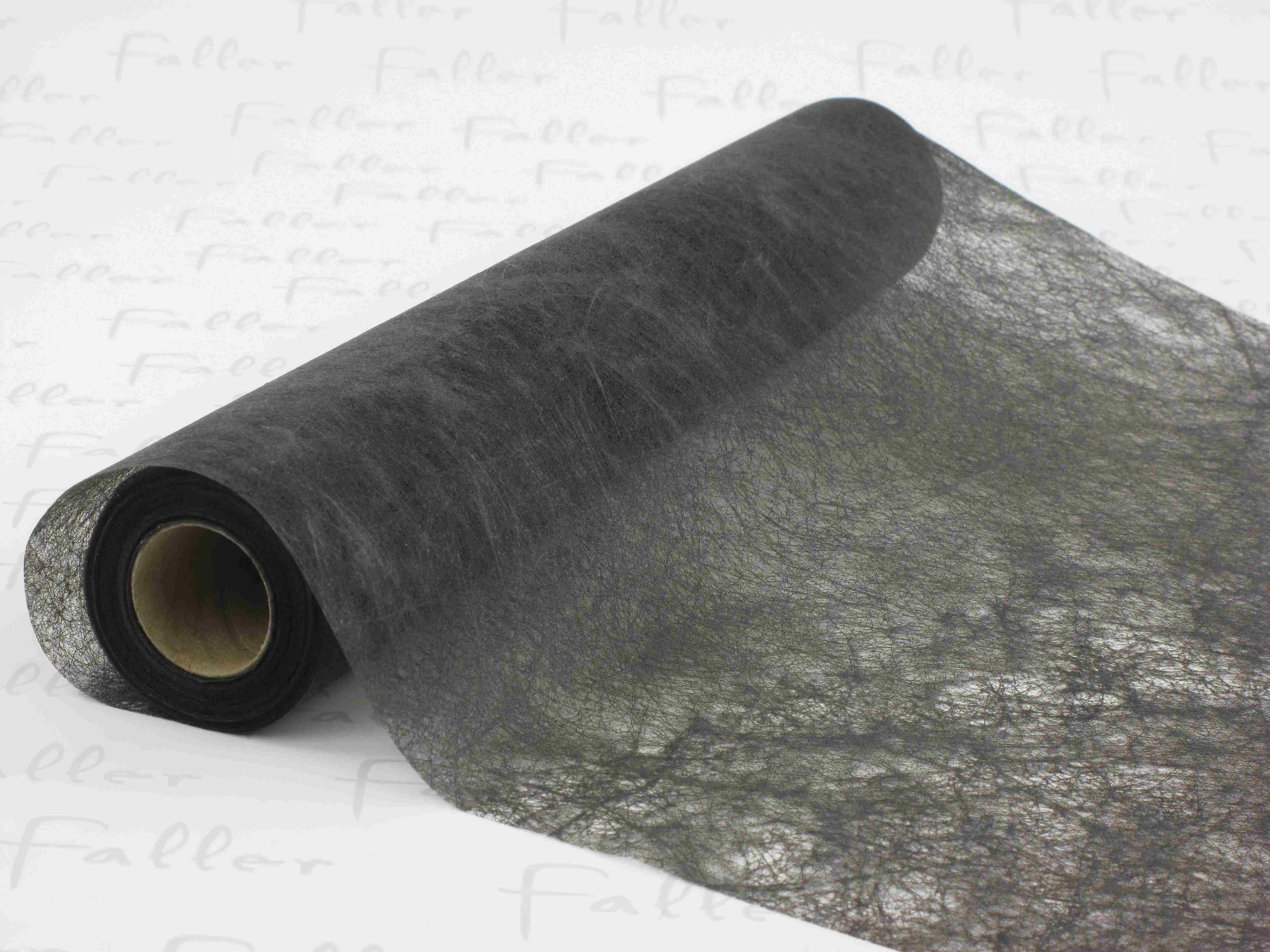 Grand chemin de table organza noir for Chemin de table personnalise