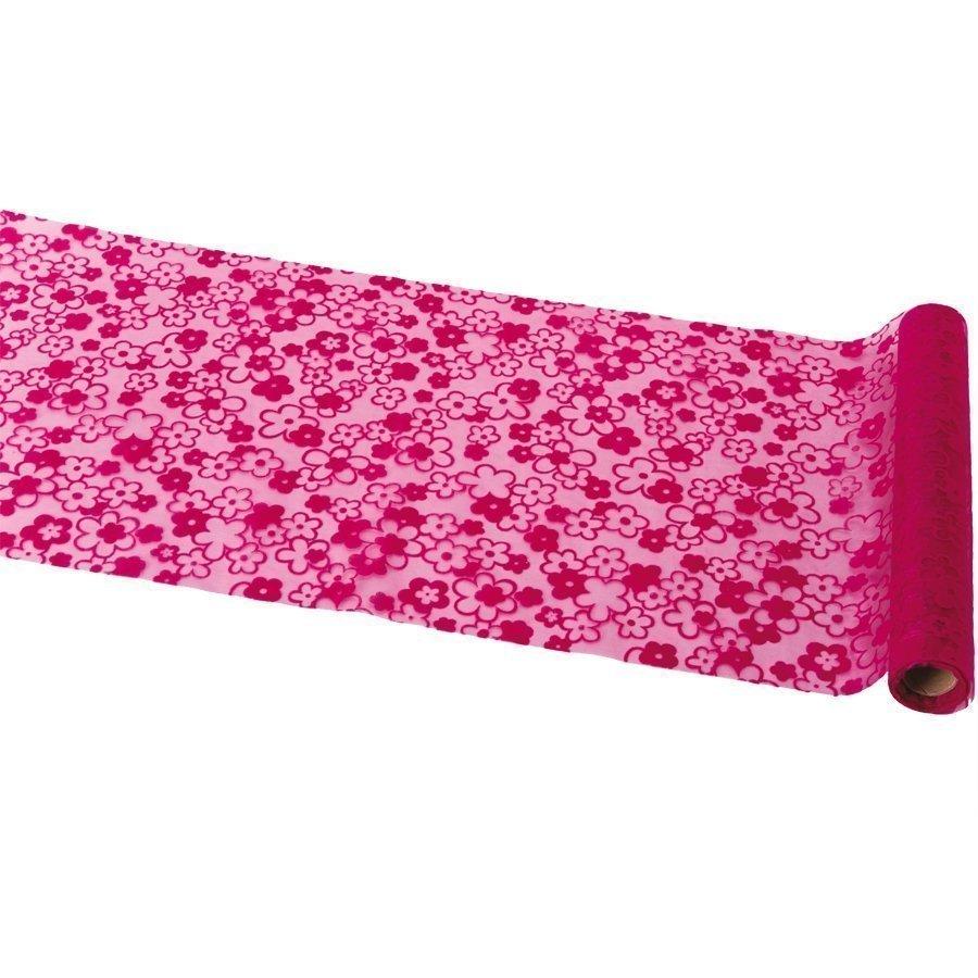 chemin de table organza fleur fuchsia. Black Bedroom Furniture Sets. Home Design Ideas