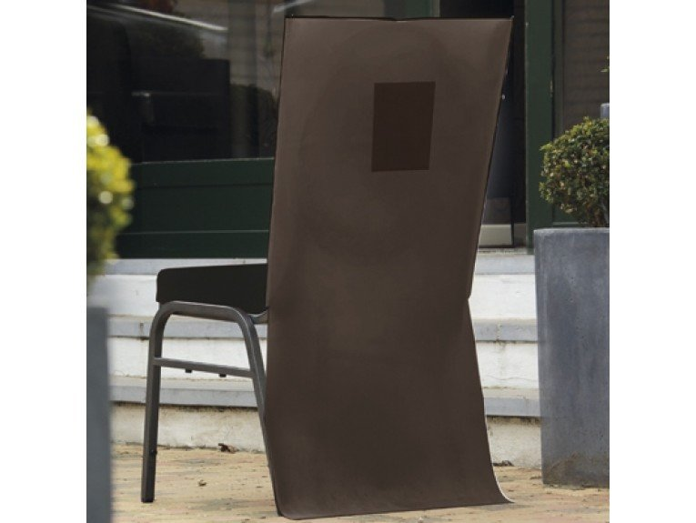 Housses chaise marron avec poche