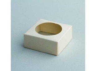 Socle écru pour boule plexi 5cm de diamétre