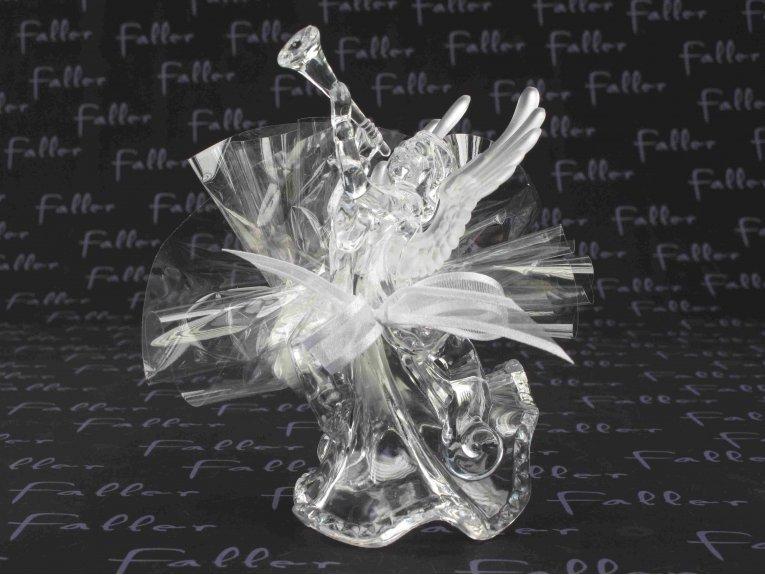 Ange en plexi blanc avec dragées