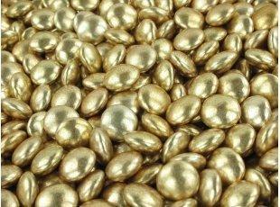 Dragées mini confettis vieil  or 200 gr