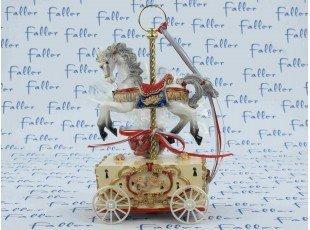Manège cheval musical pour baptême garçon