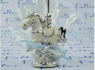 Dragées avec cheval porte photo pour garçon