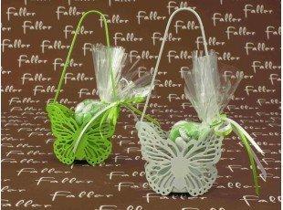 Sac métal papillon anis ou blanc