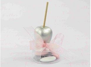 Pomme d'amour en pvc avec boite à dragées fille