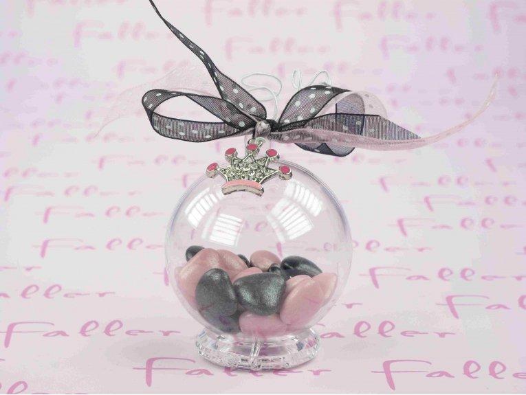 Contenant boule plexi avec couronne - Boule transparente pas cher ...
