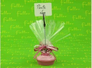 Porte-photo cupcake avec pochon de dragées
