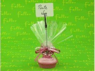 Porte-photo cupcake avec pochon de dragées