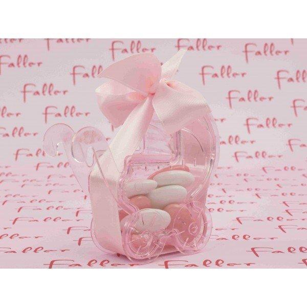 poussette rose pvc avec dragees naissance fille. Black Bedroom Furniture Sets. Home Design Ideas