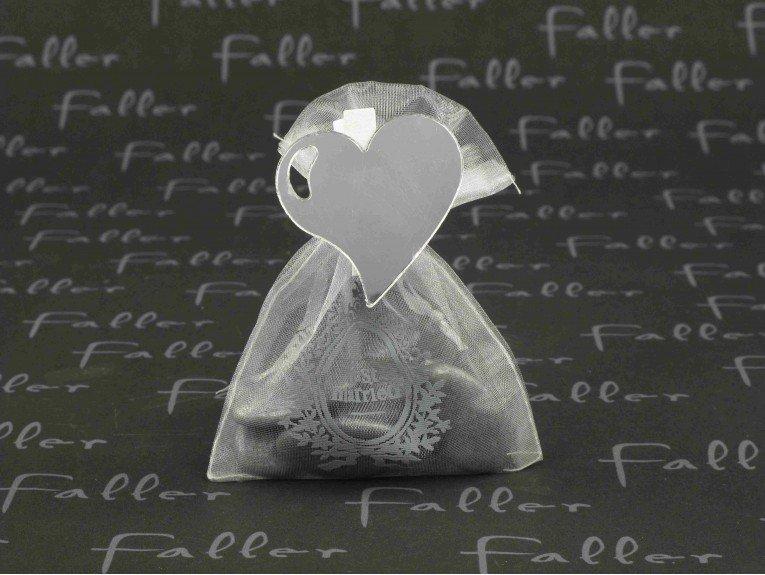 Dragées mariage gris dans sac just married