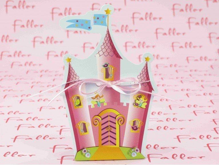 Boite à dragées thème château de princesse