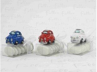 Porte-clés Fiat 500 sur boite à dragées