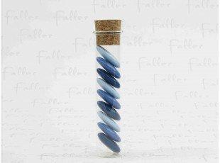Dragées dégradé de bleu dans tube en verre