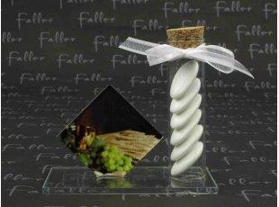 Soliflore de communion avec dragées sur socle