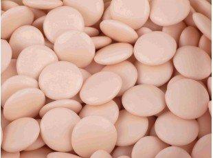 Sachet de dragées chocolat confettis couleur blush de 500 grammes