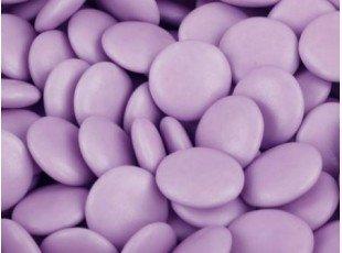 Sachet dragées confettis au chocolat couleur lilas 500 gr