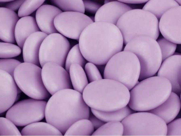 confetti au chocolat couleur parme 500 grammes. Black Bedroom Furniture Sets. Home Design Ideas