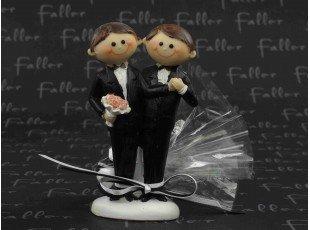 Dragées de mariage gay et son couple d'hommes
