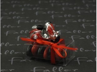 Boite de dragées mariage avec vespa rouge