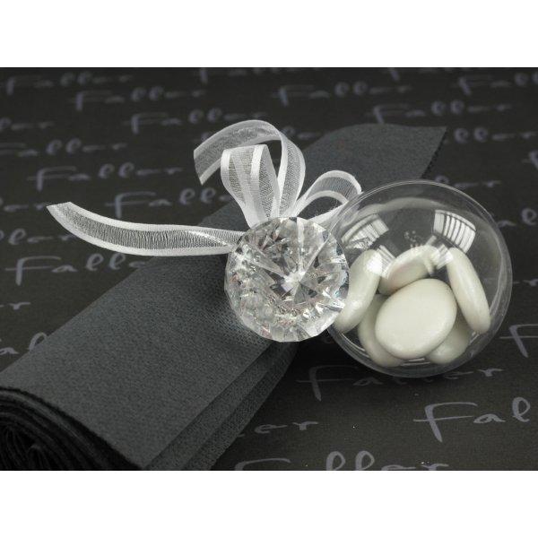 ... anneau de serviette diamant, sa boule et les dragées de mariage