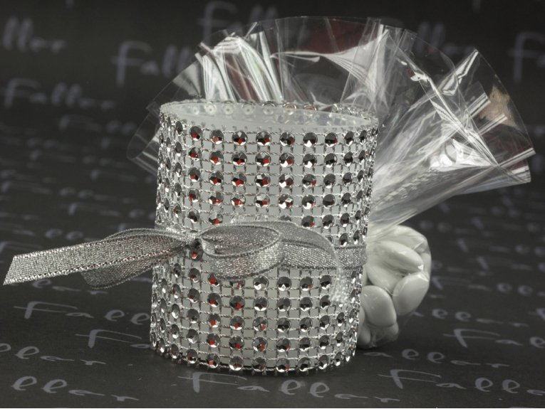 Bougeoir strass argent led d co mariage for Deco de table orientale