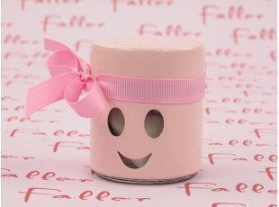 Dragées fille dans bocal smiley rose