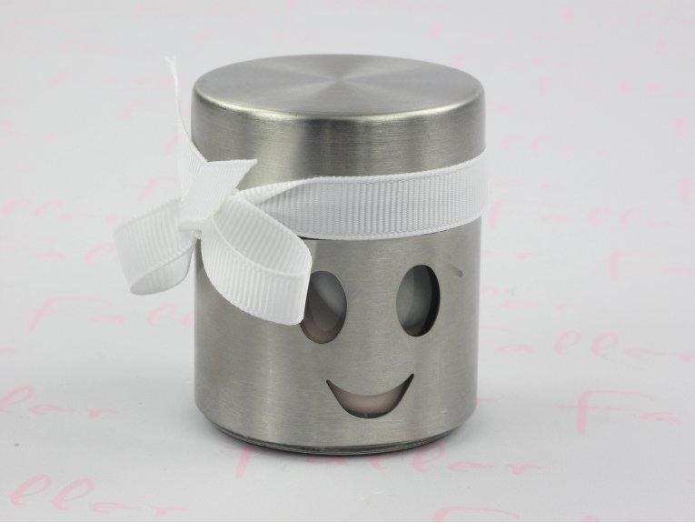 Mini pot illustré d'un smiley gris