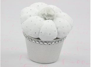 Cup cake de baptême avec strass