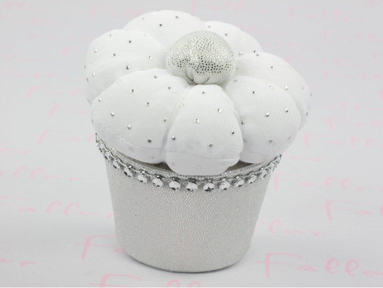 Cupcake de baptême avec strass