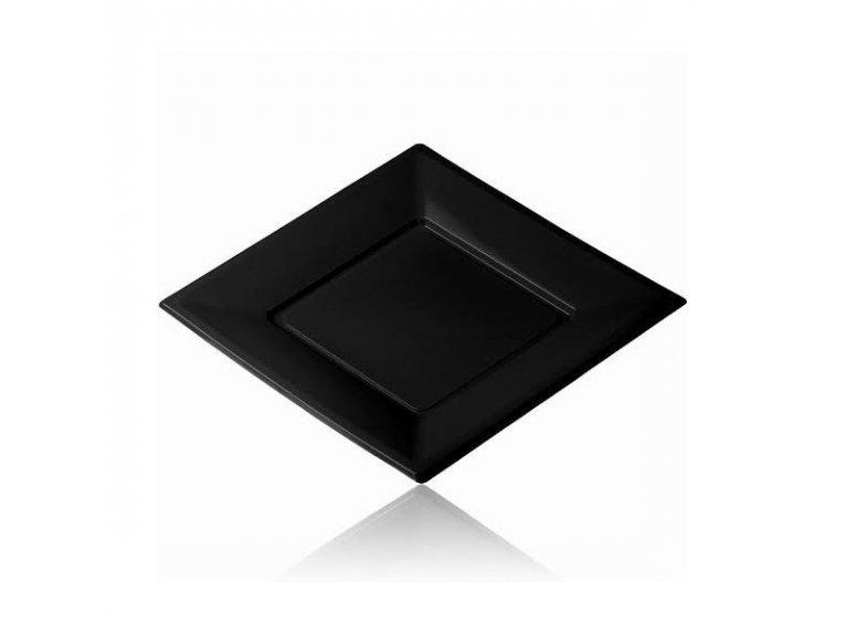 Grande assiette plastique noire
