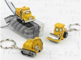 Camion de chantier porte clef  et ses dragees de bapteme
