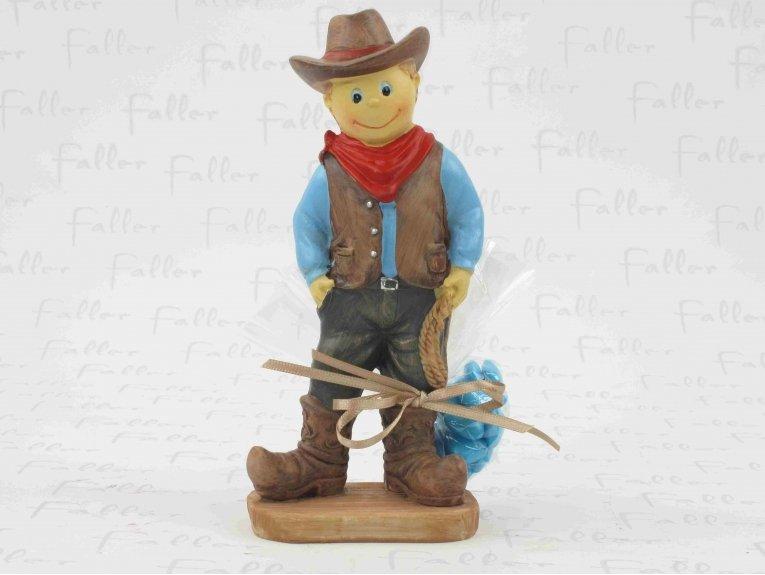Grand cowboy  accompagné de son pochon de dragées