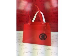 Sac rouge vernis oursons