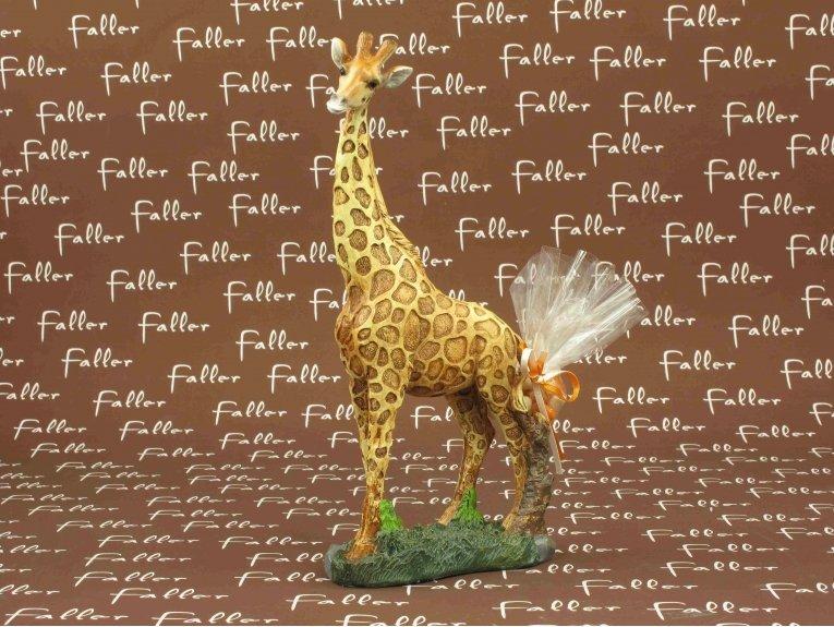 Grande figurine girafe réaliste et dragées baptême