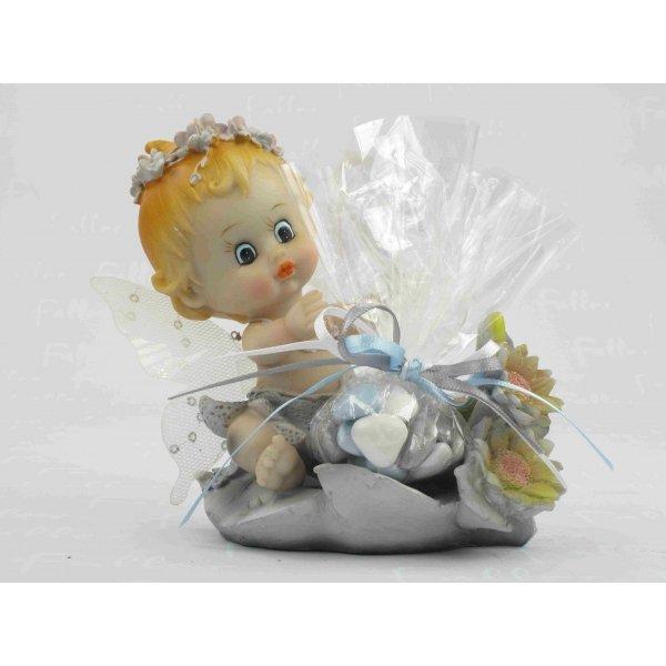 Figurine b b gar on elfe drag es bapt me th me fleurs - Couleur bapteme garcon ...